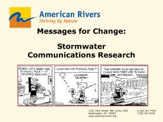 Messages for Change: Stormwater Communications Research Katherine Baer