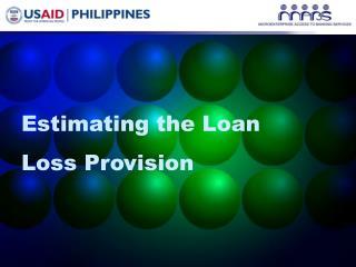 Estimating the Loan Loss Provision