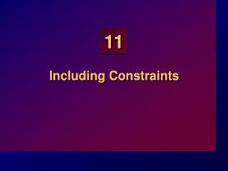Including Constraints