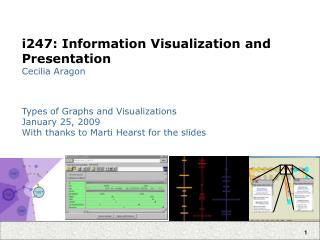 I247: Information Visualization and Presentation Cecilia Aragon