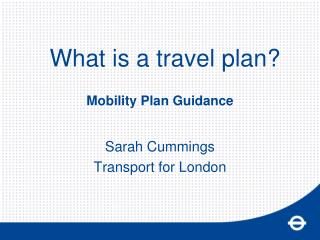 Mobility Plan Guidance