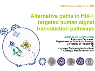 Alternative paths in HIV-1 targeted human signal transduction pathways