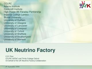 UK Neutrino Factory