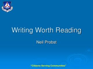 Writing Worth Reading