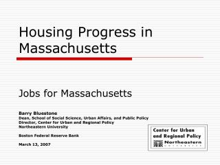 Housing Progress in Massachusetts