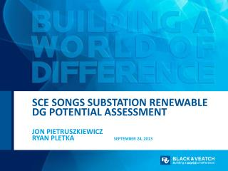 SCE Songs substation Renewable DG Potential Assessment
