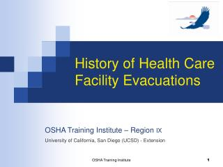 History of Health Care Facility Evacuations