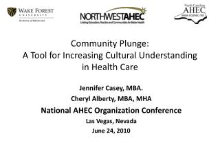 Community Plunge: A Tool for Increasing Cultural Understanding in Health Care