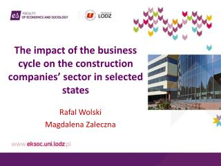 The impact of the business cycle on the construction companies' sector in selected states