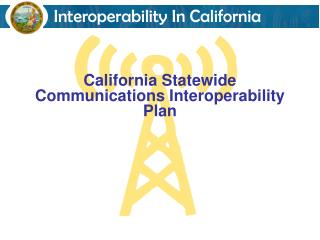 California Statewide Communications Interoperability Plan