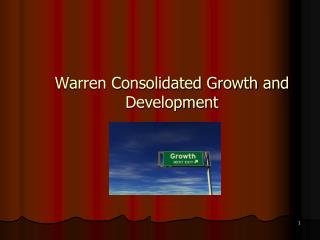 Warren Consolidated Growth and Development