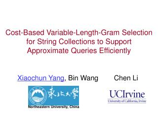 Cost-Based Variable-Length-Gram Selection  for String Collections to Support  Approximate Queries Efficiently