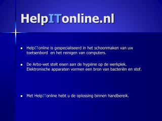 Help IT online.nl