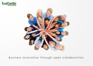 Business innovation  through  open collaboration