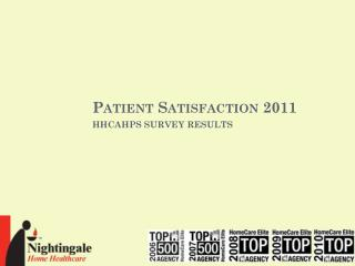 Patient Satisfaction 2011