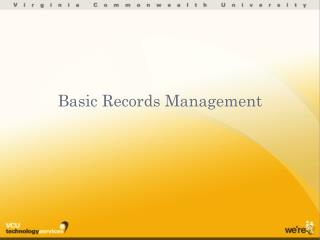 Basic Records Management