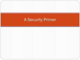 A Security Primer