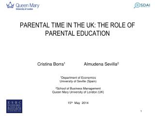 PARENTAL TIME IN THE UK: THE ROLE OF PARENTAL EDUCATION