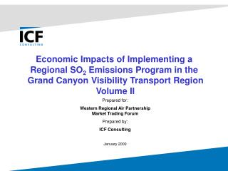Economic Impacts of Implementing a  Regional SO 2  Emissions Program in the