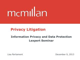 Privacy Litigation