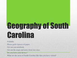 Geography of South Carolina