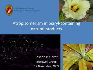 Atropisomerism in biaryl-containing natural products