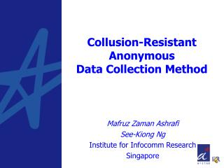 Collusion-Resistant Anonymous  Data Collection Method