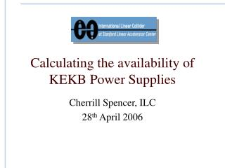 Calculating the availability of KEKB Power Supplies