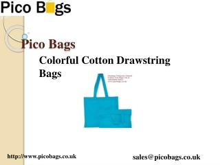 Online Cotton Drawstring bags