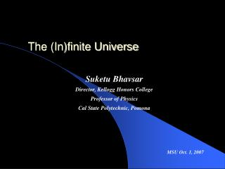 The (In)finite Universe