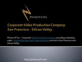 Corporate video production in san francisco