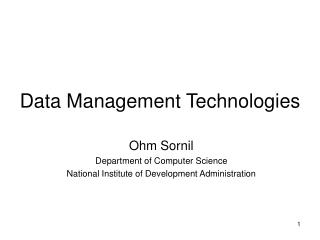 Data Management Technologies