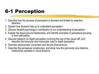 6-1 Perception
