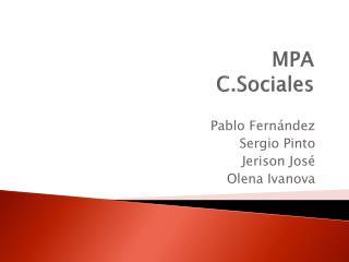 MPA C.Sociales