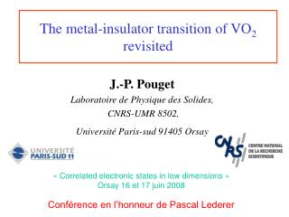 The metal-insulator transition of VO 2 revisited