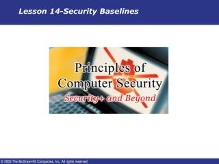 Lesson 14-Security Baselines