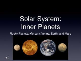 Solar System: Inner Planets