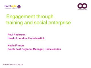 Engagement through training and social enterprise