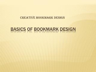 Bookmark Design
