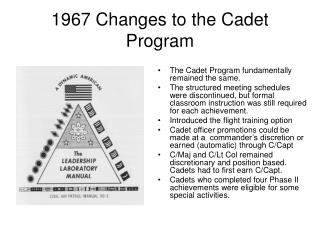 1967 Changes to the Cadet Program