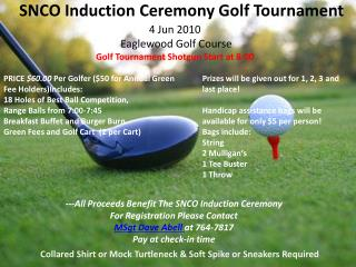 SNCO Induction Ceremony Golf Tournament