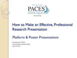 How to Make an Effective, Professional Research Presentation