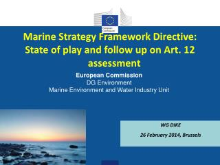 Marine Strategy Framework Directive: State of play and follow up on Art. 12 assessment