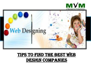 Tips to find out best web design company