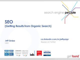 SEO (Getting Results from Organic Search)