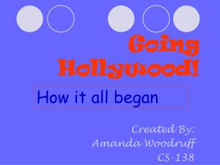 Going Hollywood!