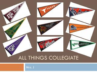 All things collegiate