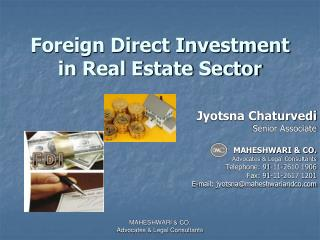 Foreign Direct Investment in Real Estate Sector