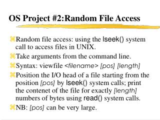 OS Project #2:Random File Access