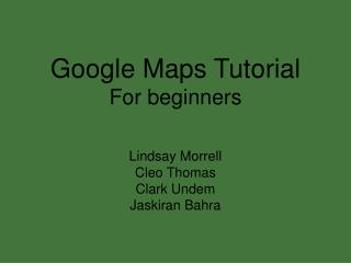 Google Maps Tutorial For beginners